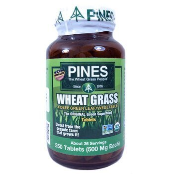 Купить Pines International Wheat Grass 500 mg 250 Tablets