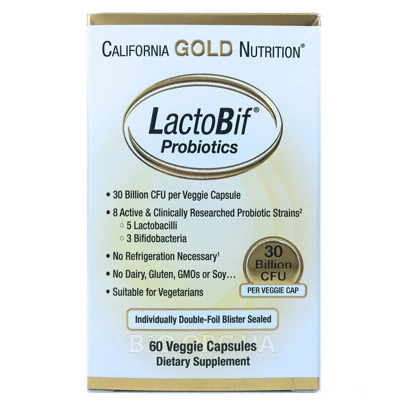 LactoBif Probiotics 30 Billion CFU 60 Veggie Caps фото товара