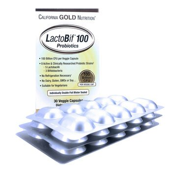 Купить California Gold Nutrition LactoBif Probiotics 100 Billion CFU ...