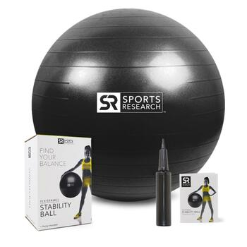 Купить Sports Research Performance Stability Ball Black 65 cm