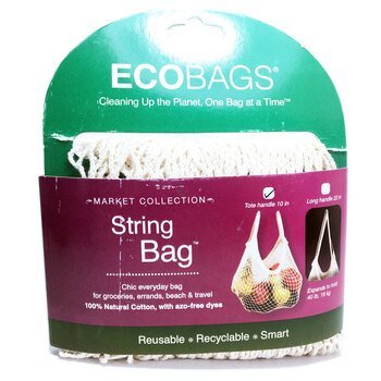 Купить ECOBAGS Market Collection String Bag Tote Handle 10 in Natural...