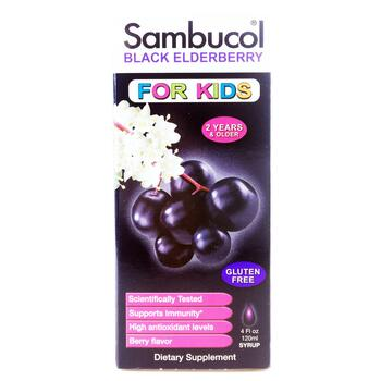 Купить Sambucol Black Elderberry For Kids Syrup 120 ml