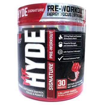 Купить ProSupps Mr. Hyde Signature Pre Workout Lollipop Punch 216 g