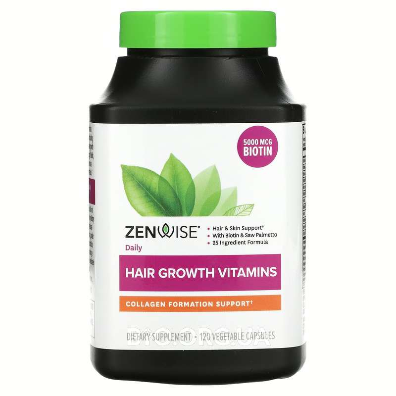 Daily Hair Growth Vitamins With DHT Blocker 120 Vegetarian Cap... фото товара