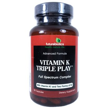 Купить FutureBiotics Vitamin K 550 mcg Triple Play 60 Capsules