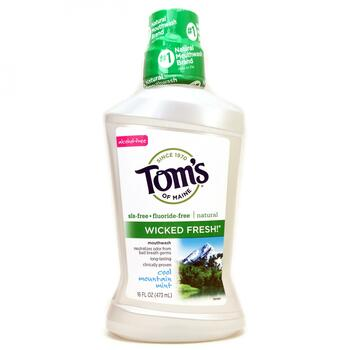 Купить Toms of Maine Wicked Fresh! Mouthwash Cool Mountain Mint 473 m...