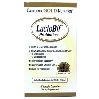 Купить California Gold Nutrition LactoBif Probiotics 5 Billion CFU 10...