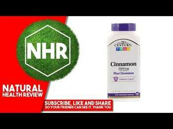 Видео-обзор и фото товара 21st Century Cinnamon Plus Chromium 2000 mg 120 Vegetarian Cap...